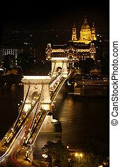 chain bridge in Budapest, Hungary