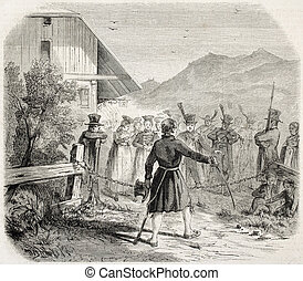 Chain Ceremony - Antique illustration of Chain Ceremony: an...