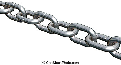 Close view of a straight chain