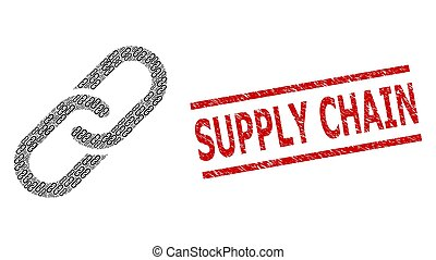 Chain Composition of Chain Items and Scratched Supply Chain Seal Stamp