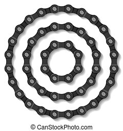 Chain - Vector illustration of a bicycle chain