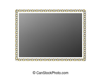 Chain frame on a white background