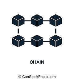 Chain icon. Monochrome style design from blockchain icon collection. UI and UX. Pixel perfect chain icon. For web design, apps, software, print usage.