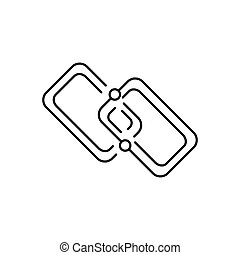 Chain icon, outline style