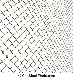 Chain Link Fence - A 3D chain link fence texture isolated...