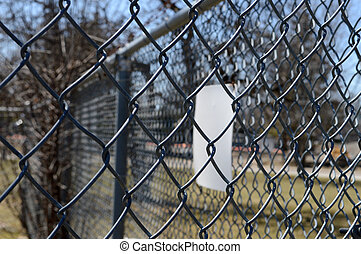 Chain Link Fence - Closeup of an enclosed space utilizing a...