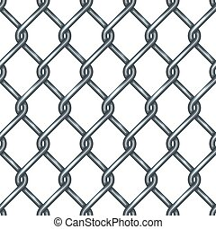 Chain link fence seamless pattern