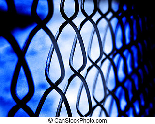 Chain Link Fence Security - Chain Link Fence on Border...