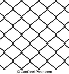 Chain Link Fence Vector - A chain link fence pattern that...