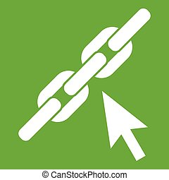 Chain link icon green
