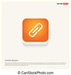 Chain link icon Orange Abstract Web Button