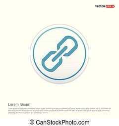 Chain link icon - white circle button
