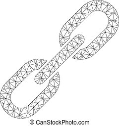 Chain Link Polygonal Frame Vector Mesh Illustration
