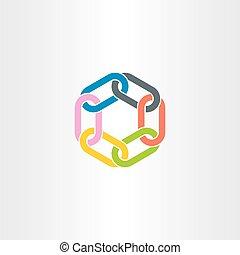 chain link vector symbol design element