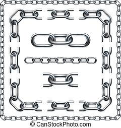 Chain Links Graphic Design Set