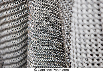 chain mail armour background - medieval armour made of metal...