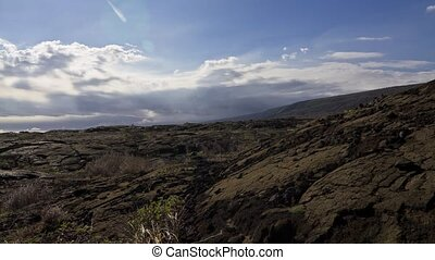 Chain Of Craters Road, Timelapse - Time lapse shot on the...