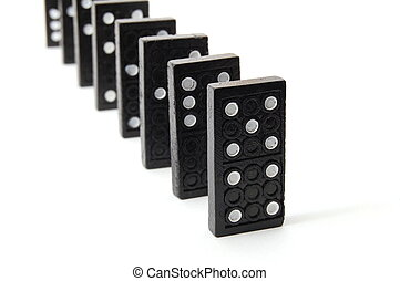 domino - chain of dominoes isolated on a white background