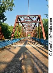 Chain of Rocks bridge on the Mississippi river.