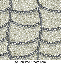 chain on wall seamless background