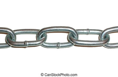 Chain - chain on white background