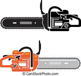 Chain Saw  - chain saw vector illustration clip-art eps