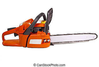chain saw on a white background