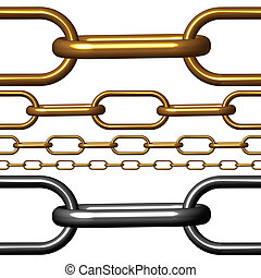 chain seamless against white background, abstract vector art...