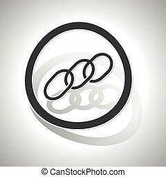 Chain sign sticker, curved