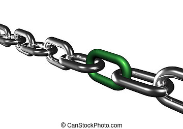 Chain Team Bonding Success Symbol Isolated on White