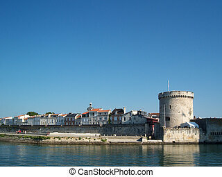View of the chain tower of La Rochelle in France.