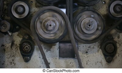 Chain transmission in the machine