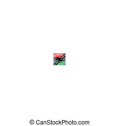 chain., unia, afrykańska-amerikanka, wolność, bandera, czerwiec, pan-african, -, złamany, dzień, 19., tło, day., niezależność, juneteenth