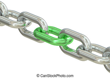 Chain with green link