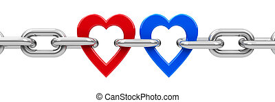 Chain with hearts