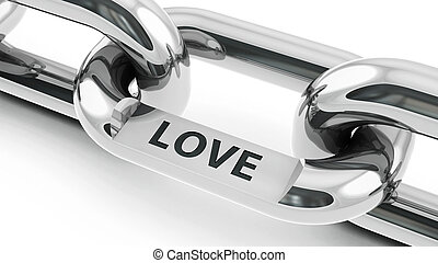 Chain with Love link