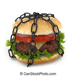 Chained burger