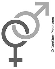 Chained gender signs for male and female