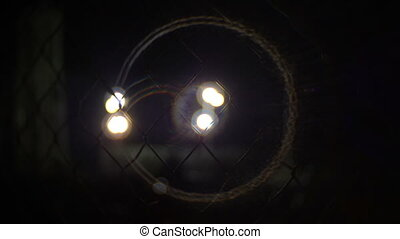 Chainlink Fence At Night