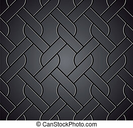 Chainlink fence isolated against on metal. Vector -...