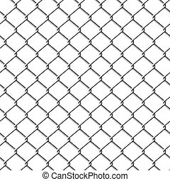 Chainlink fence. Seamless. - Vector illustration of a...