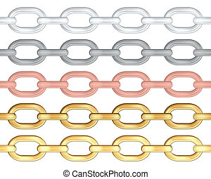 chains - Chains isolated on white background. Vector...