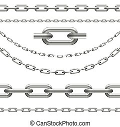 chains curved, seamless and chain link - collection of...