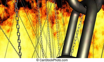 Chains Hell Fire Straight Into Hell - Chains and Hell Fire...