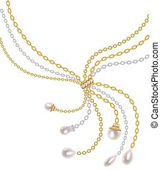 Chains with pearls