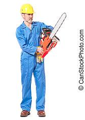 chainsaw , εργάτης