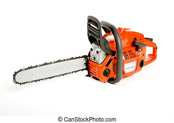 A new chainsaw isolated