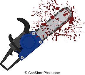 Chainsaw icon - Creative design of chainsaw icon
