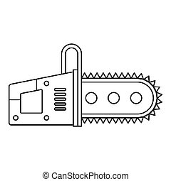 Chainsaw icon outline