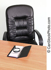 chair and desk in the office